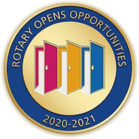 Rotary Opens Opportunities Medallion with 3 Open Doors